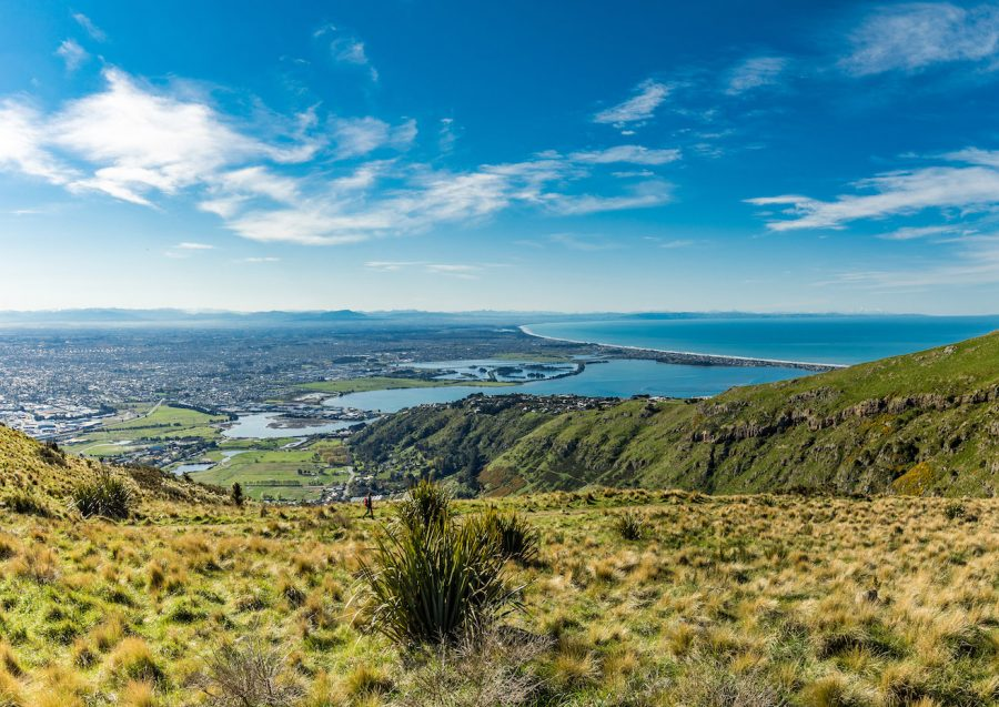 Christchurch Gondola And The Lyttelton Port From 92Zw4Pr