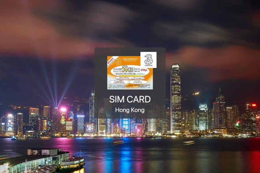 香港365天 3HK 4G上網SIM卡連通話
