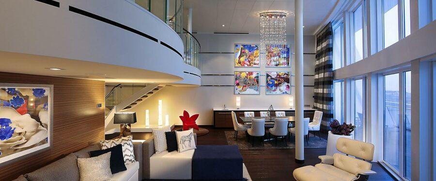 Royal Loft Suite Living Area 1