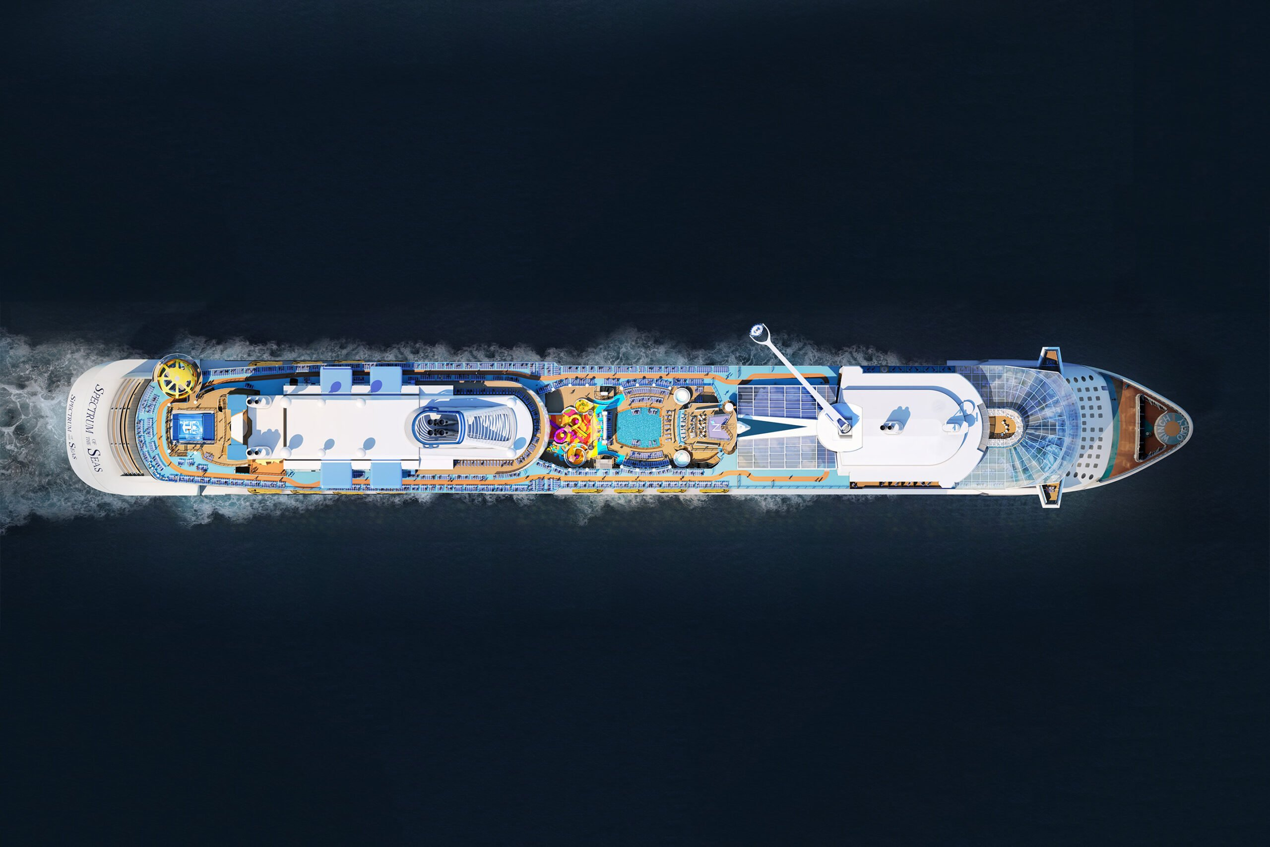 Spectrum Of The Seas Aerial Full Ship Scaled